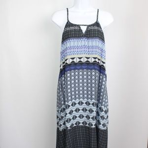prAna sundress midi spaghetti straps blue purple
